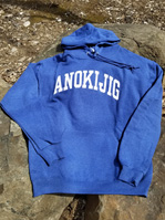 2018 Classic Hooded Sweatshirt Heather Blue